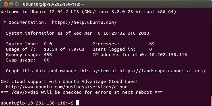 Connect to EC2 instance using SSH and Ubuntu terminal